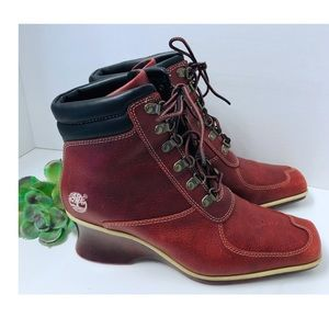 Vintage Timberland Stylish Leather Lace Up Boots